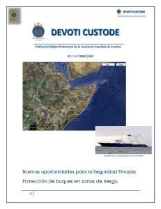 Protección de buques en zonas de riesgo