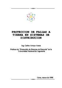 PROTECCION DE FALLAS A TIERRA EN SISTEMAS DE DISTRIBUCION
