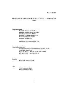 PROTECCION DE LOS SUELOS DE CITRICOS CONTRA LA DEGRADACION FISICA