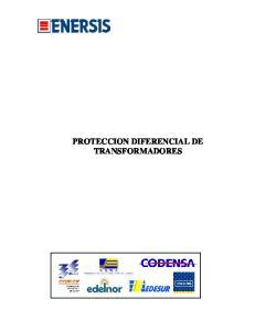 PROTECCION DIFERENCIAL DE TRANSFORMADORES