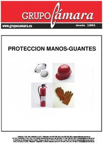 PROTECCION MANOS-GUANTES