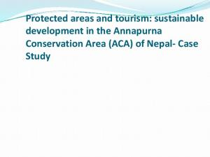 Protected areas and tourism: sustainable development in the Annapurna Conservation Area (ACA) of Nepal- Case Study