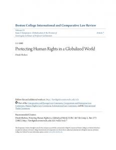 Protecting Human Rights in a Globalized World