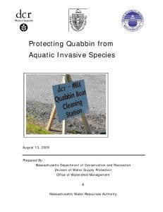 Protecting Quabbin from Aquatic Invasive Species