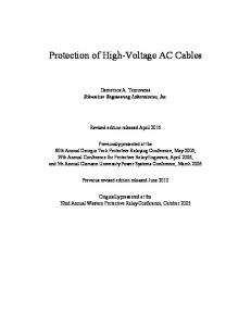 Protection of High-Voltage AC Cables