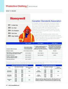 Protective Clothing 2013 CATALOG