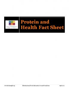 Protein and Health Fact Sheet