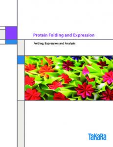 Protein Folding and Expression. Folding, Expression and Analysis