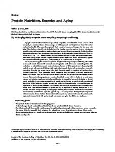 Protein Nutrition, Exercise and Aging