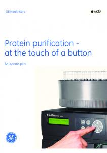 Protein purification - at the touch of a button