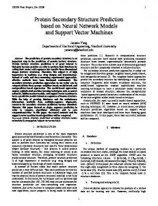 Protein Secondary Structure Prediction based on Neural Network Models and Support Vector Machines