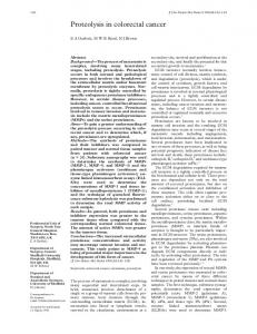 Proteolysis in colorectal cancer
