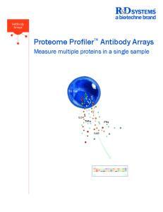 Proteome ProfilerTM Antibody Arrays