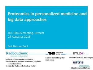 Proteomics in personalized medicine and big data approaches