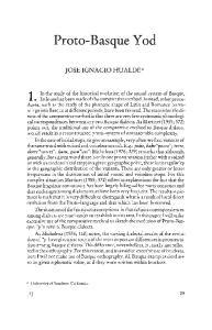 Proto-Basque Yod JOSE IGNACIO HUALDE