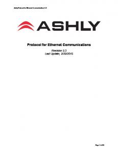 Protocol for Ethernet Communications