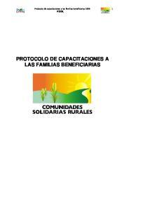 PROTOCOLO DE CAPACITACIONES A LAS FAMILIAS BENEFICIARIAS