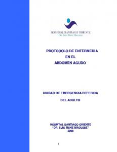 PROTOCOLO DE ENFERMERIA EN EL ABDOMEN AGUDO