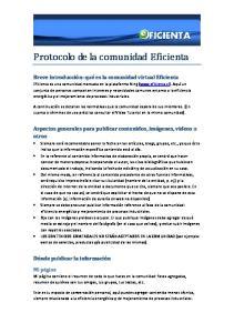 Protocolo de la comunidad Eficienta