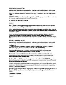 PROTOCOLO DE MONTEVIDEO SOBRE EL COMERCIO DE SERVICIOS DEL MERCOSUR