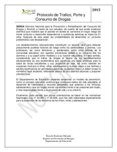 Protocolo de Trafico, Porte y Consumo de Drogas