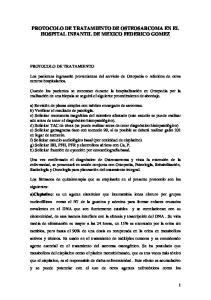 PROTOCOLO DE TRATAMIENTO DE OSTEOSARCOMA EN EL HOSPITAL INFANTIL DE MEXICO FEDERICO GOMEZ