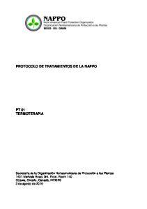 PROTOCOLO DE TRATAMIENTOS DE LA NAPPO PT 01 TERMOTERAPIA