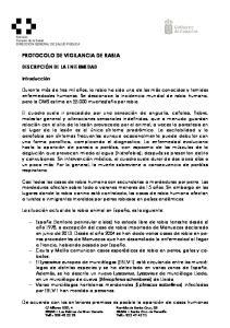 PROTOCOLO DE VIGILANCIA DE RABIA