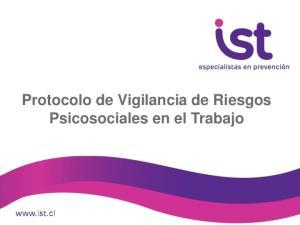 Protocolo de Vigilancia de Riesgos Psicosociales en el Trabajo