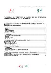 PROTOCOLO DE VIGILANCIA Y ALERTA DE LA ENFERMEDAD INVASORA POR HAEMOPHILUS INFLUENZAE