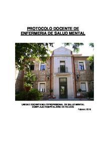 PROTOCOLO DOCENTE DE ENFERMERIA DE SALUD MENTAL