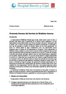 Protocolo Docente del Servicio de Medicina Interna