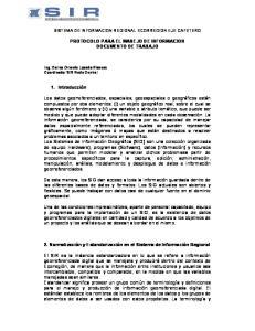 PROTOCOLO PARA EL MANEJO DE INFORMACION DOCUMENTO DE TRABAJO