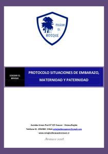 PROTOCOLO SITUACIONES DE EMBARAZO, MATERNIDAD Y PATERNIDAD