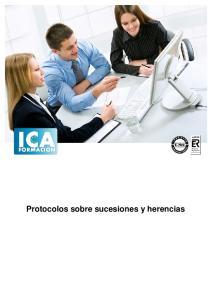 Protocolos sobre sucesiones y herencias