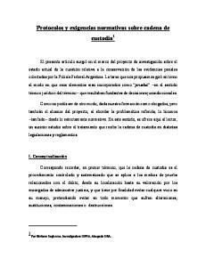 Protocolos y exigencias normativas sobre cadena de custodia 1