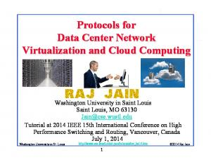 Protocols for Data Center Network Virtualization and Cloud Computing