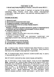 PROTOKÓŁ Nr XVI z obrad sesji Rady Miejskiej w Narolu z dnia 29 marca 2012 r