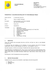 Protokoll der 3. Generalversammlung der TCS Motorradgruppe Aargau