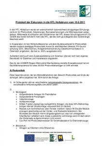 Protokoll der Exkursion in die HTL Hollabrunn vom