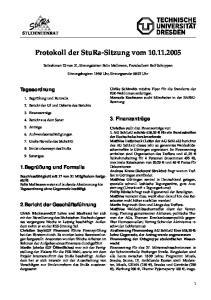 Protokoll der StuRa-Sitzung vom