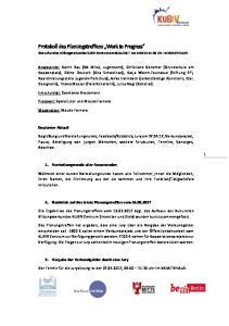 Protokoll des Planungstreffens Work in Progress