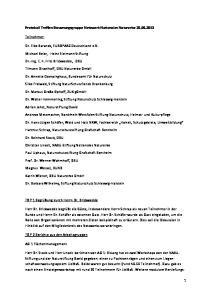 Protokoll Treffen Steuerungsgruppe Netzwerk Nationales Naturerbe