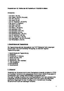 Protokoll zum 13. Treffen der AG Technik am in Mainz