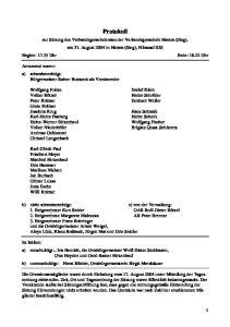 Protokoll. zur Sitzung des Verbandsgemeinderates der Verbandsgemeinde Hamm (Sieg), am 31. August 2004 in Hamm (Sieg), Filmsaal IGS