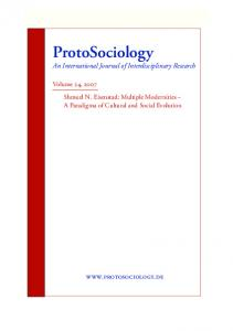 ProtoSociology An International Journal of Interdisciplinary Research