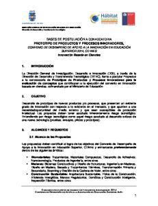 PROTOTIPO DE PRODUCTOS Y PROCESOS INNOVADORES,