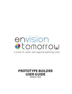 PROTOTYPE BUILDER USER GUIDE VERSION 3.1 BETA