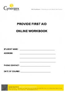 PROVIDE FIRST AID ONLINE WORKBOOK