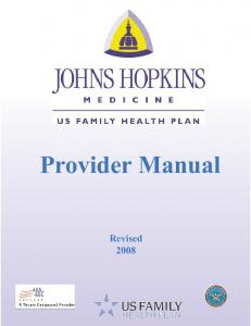 Provider Manual Revised 2008